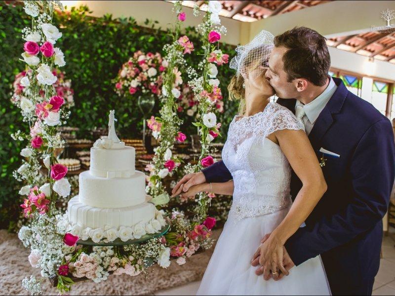 Balanço de flores para bolo - Casamento
