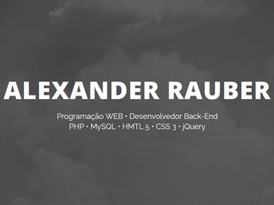 Alexander Rauber - Sites Personalizados